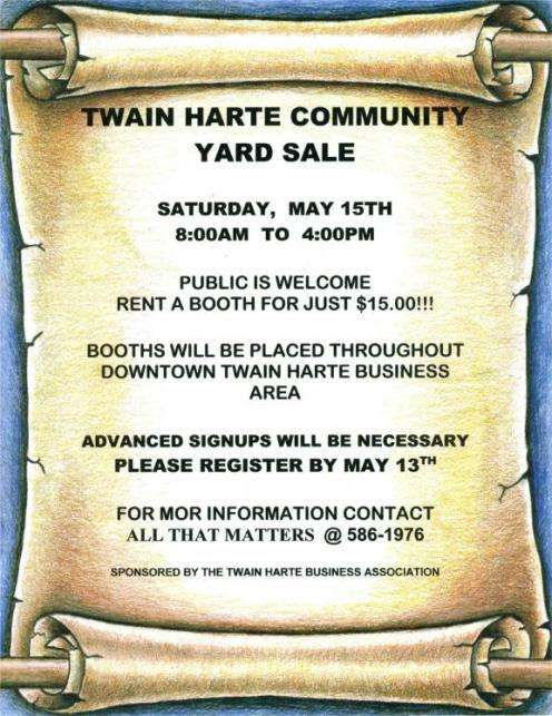 Twain Harte Community Yard Sale