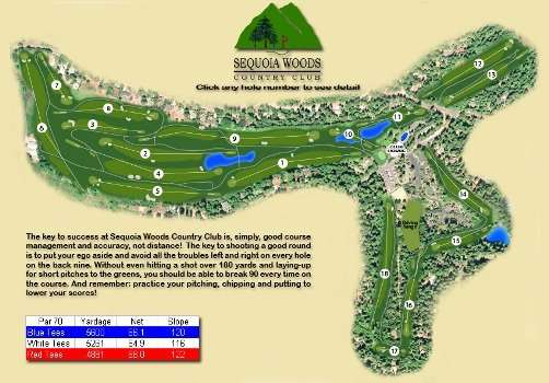 Sequoia Woods Country Club Golf Course In Arnold, CA